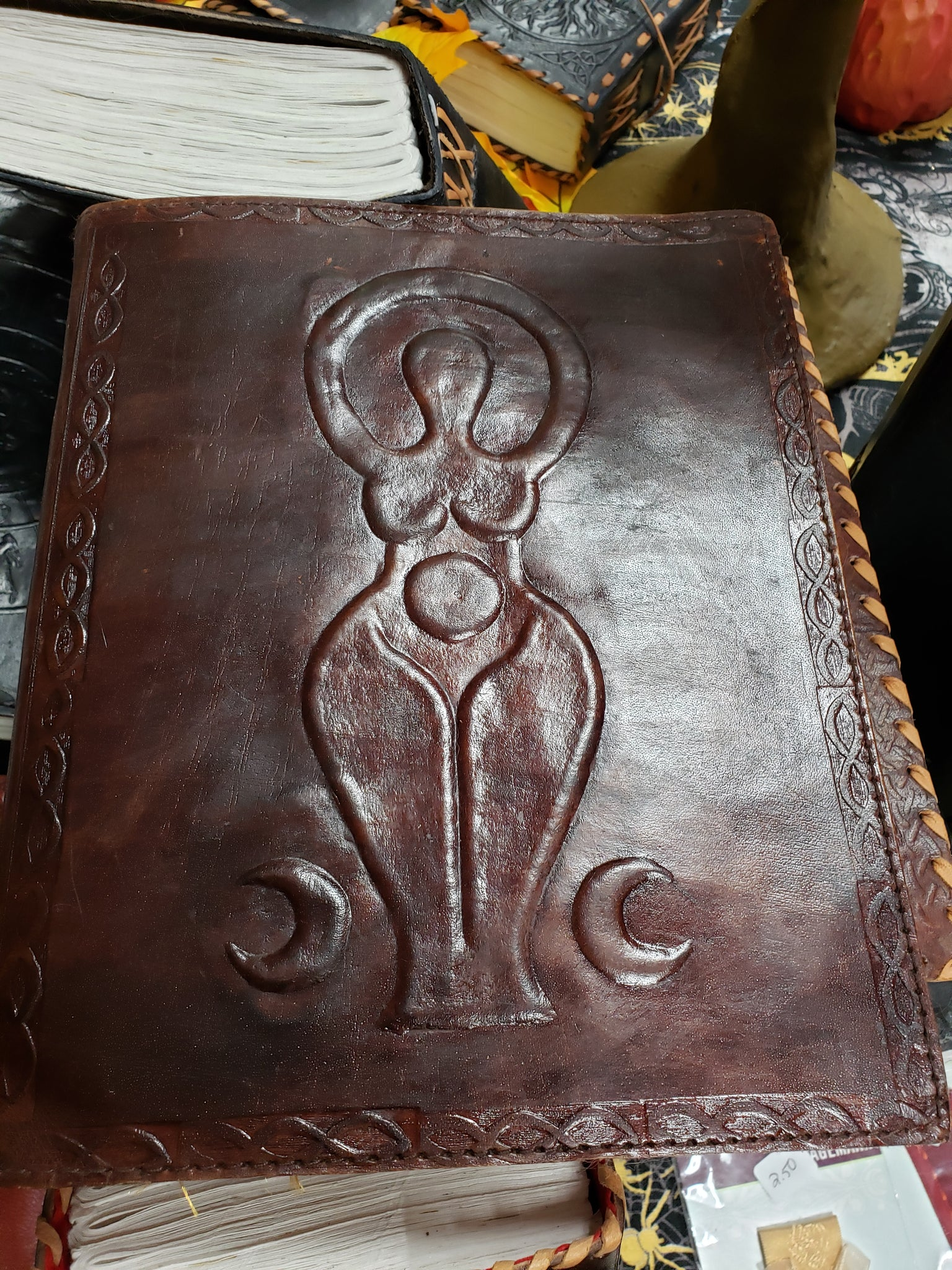 Goddess Hand Crafted Leather Journal - Tree Of Life Shoppe