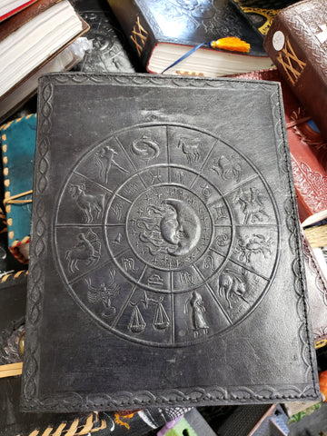 Zodiac Signs Hand Crafted Leather Journal - Tree Of Life Shoppe