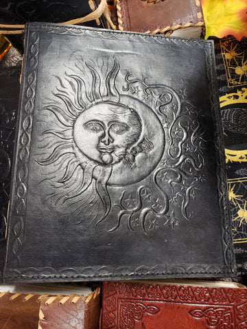 Sun and Moon Hand Crafted Leather Journal - Tree Of Life Shoppe