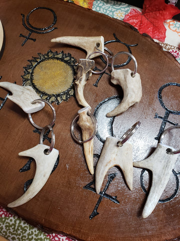 Hand Crafted Antler Keychains - Tree Of Life Shoppe