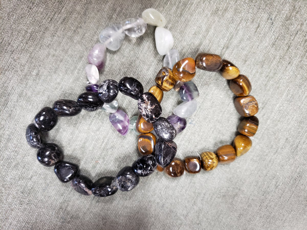Tumbled Gemstone Nuggets Bracelets - Various - Tree Of Life Shoppe