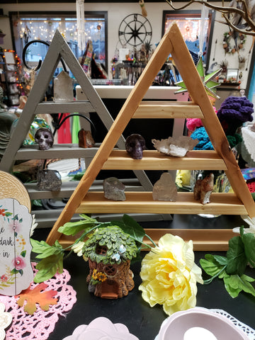 Recycled Triangle Wood Display - Tree Of Life Shoppe