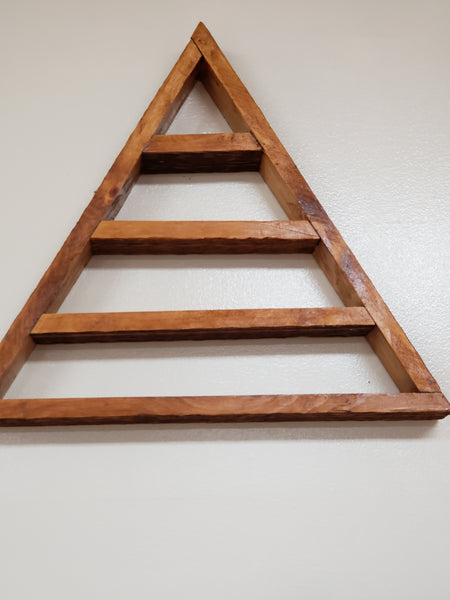 Recycled Triangle Wood Display