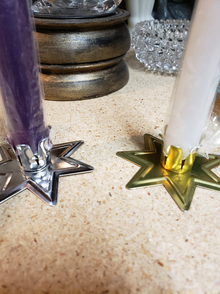 Fairy Star Chime Candle Holder - Gold and Silver - Tree Of Life Shoppe