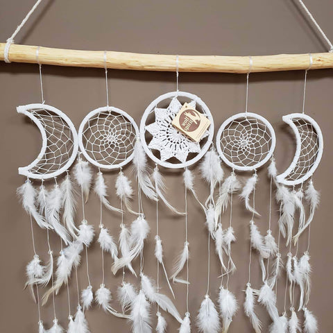 Sun and Moon Dreamcatcher Collection on branch