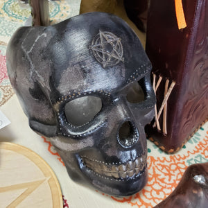 Ceramic Painted Skull - Tree Of Life Shoppe