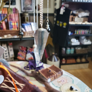 Six Sided Rainbow Fluorite Pendulum - Tree Of Life Shoppe