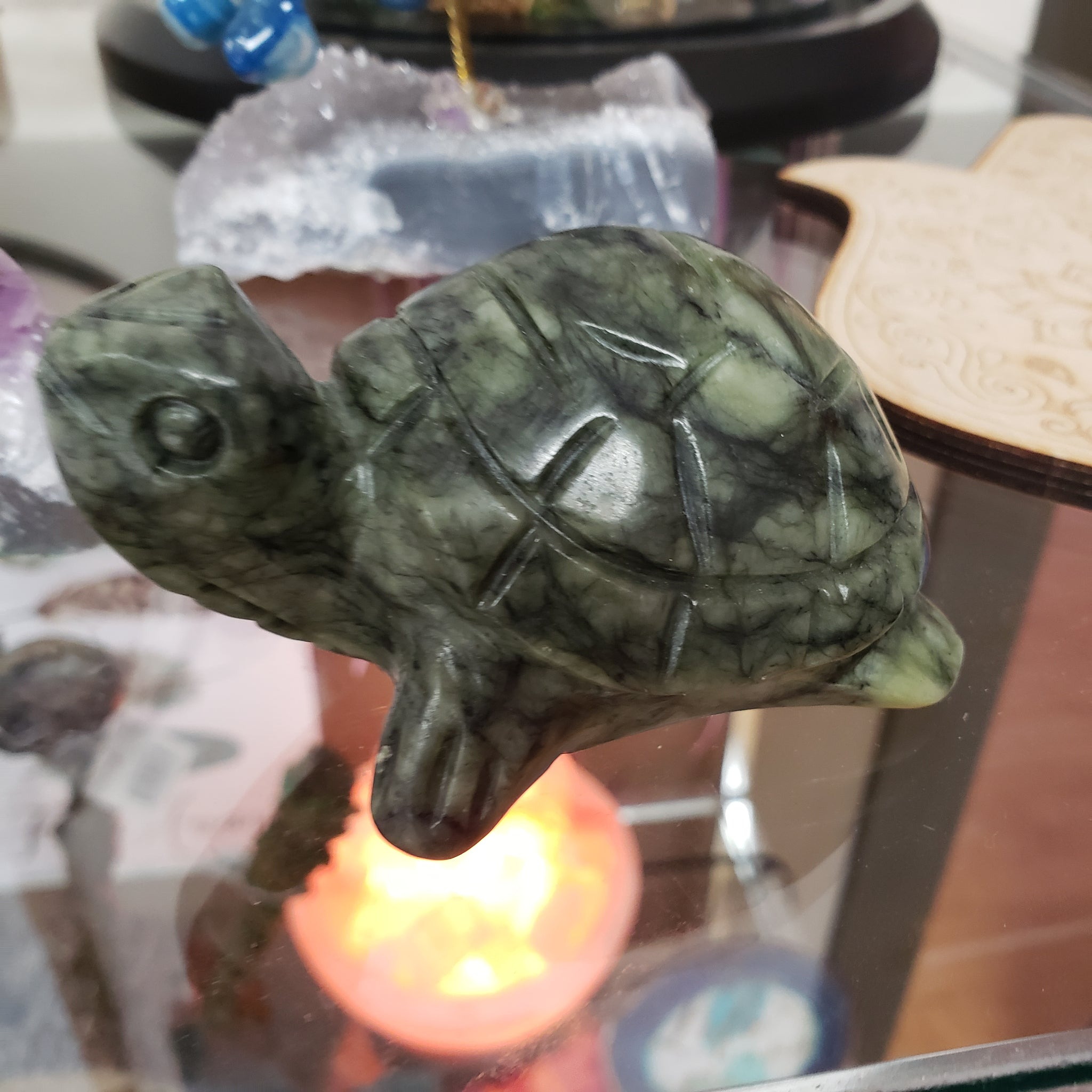 Serpentine Carved Turtle - Tree Of Life Shoppe