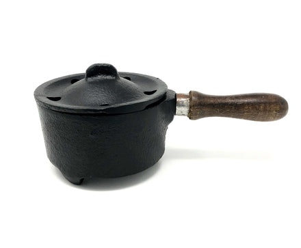 Cast Iron Couldron with Wooden Handle 5""