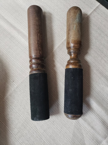 Wooden Singing Bowl Stick with  and with out Suede