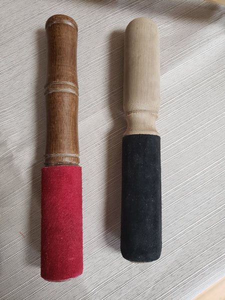 Wooden Singing Bowl Mallet with / and with out Suede - Tree Of Life Shoppe
