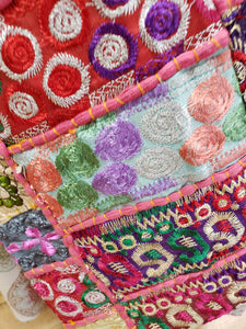 Patchwork & Embroidery Hobo Bag - Tree Of Life Shoppe