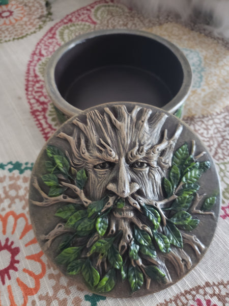 Greenman Altar / Trinket Round - Tree Of Life Shoppe