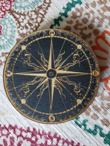 Star Compass Engraved Wooden Magnet - Tree Of Life Shoppe