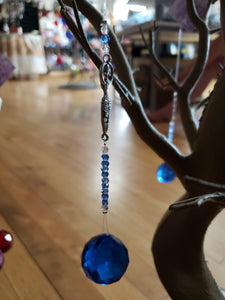 Crystal Suncatcher Goddess - Cobalt Blue - Tree Of Life Shoppe