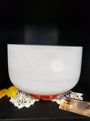 Frosted Crystal Singing Bowl 9 1/2 inch diameter - Tree Of Life Shoppe