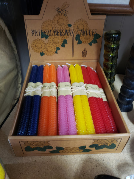 Taper Handmade 10 inch Bees Wax Candles Sets - Various - Tree Of Life Shoppe