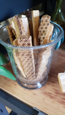 Engraved and Reiki Infused Palo Santo Sticks - Tree Of Life Shoppe