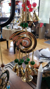 Brass Wind Chime with bells Spiral - Tree Of Life Shoppe