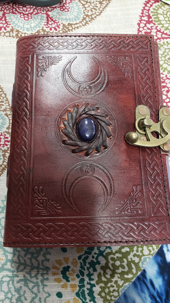 Celtic Triple Moon God's Eye Leather Journal - Tree Of Life Shoppe