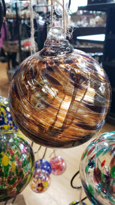 Carmel Swirl Witch Globe 4 inches - Tree Of Life Shoppe