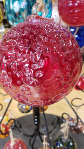 Crackle Candy Apple Globe 4 inches - Tree Of Life Shoppe