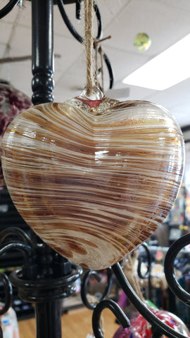 Cinnamon Heart Witch Ball 4 inches - Tree Of Life Shoppe