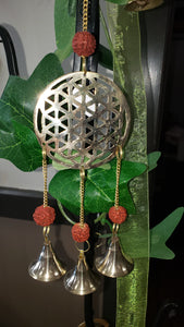 Brass Seed of Life Wind Chime - Tree Of Life Shoppe