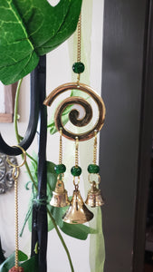 Spiral wind chime brass - Tree Of Life Shoppe