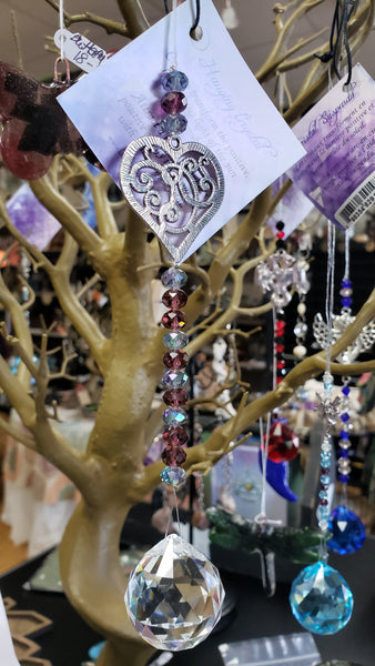 Crystal Suncatcher Heart - Red - Tree Of Life Shoppe