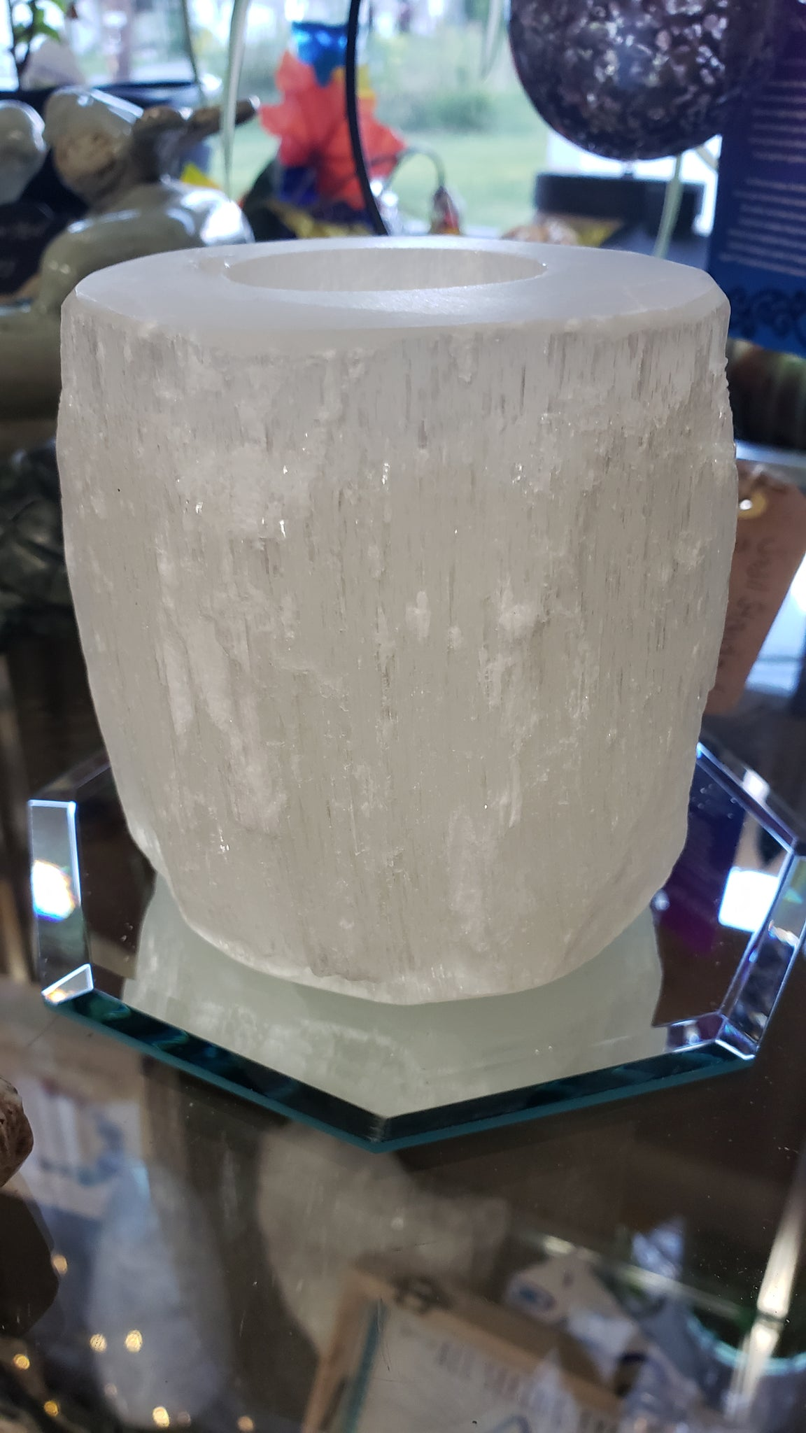 Selenite Candle Holder - Tree Of Life Shoppe