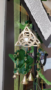 Brass Triquetra Wind Chime - Tree Of Life Shoppe