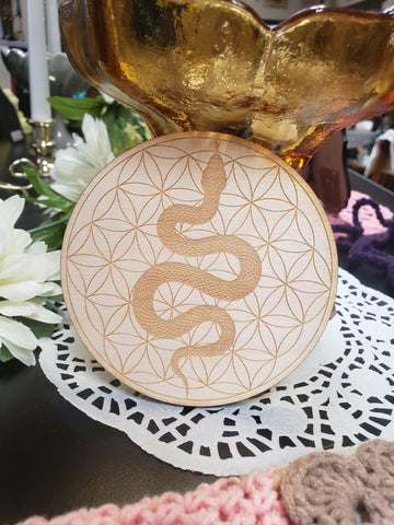 Flower Of Life & Snake Crystal Grid - Tree Of Life Shoppe