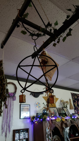 "Pentagram wind chime 5"" - Tree Of Life Shoppe"