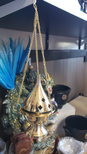 Brass Hanging Incense Burner - Tree Of Life Shoppe