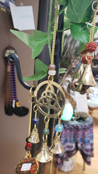 Triquetra in Circle With Bells Wind Chime - Tree Of Life Shoppe
