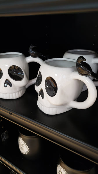 Skelly and Raven XL Ceramic  Mug