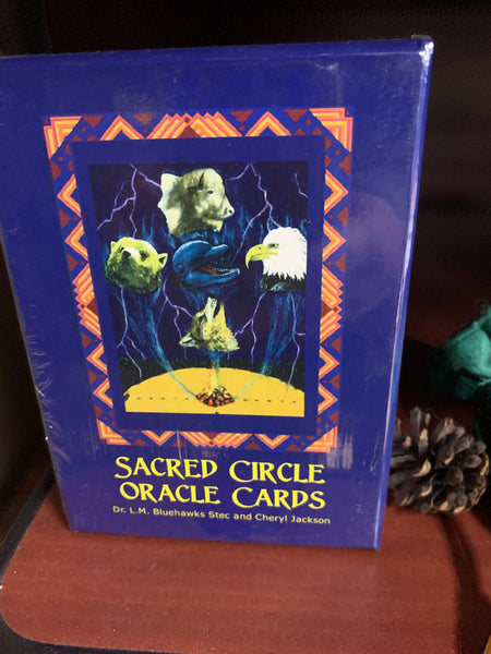 Sacred Circle Oracle Cards Dr. L.M. Bluehawks Stec and Cheryl Jackson - Tree Of Life Shoppe