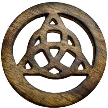 "Triquetra altar tile 4"" - Tree Of Life Shoppe"