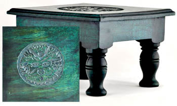 Greenman Altar Table - Tree Of Life Shoppe