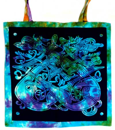 Celtic Dragon Tye Dye Tote Bag - Tree Of Life Shoppe