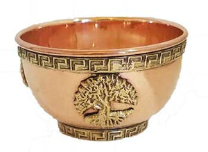 Copper Offering Bowl - Pentacle - Tree Of Life Shoppe