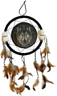 "Wolf Dreamcatcher 13"" - Tree Of Life Shoppe"