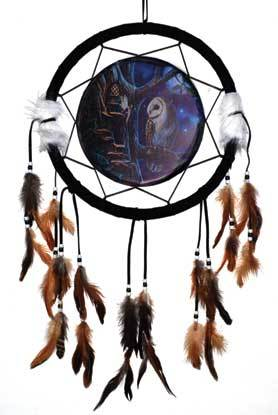 Owl & Fairy Dream Catcher 13 Inches - Tree Of Life Shoppe