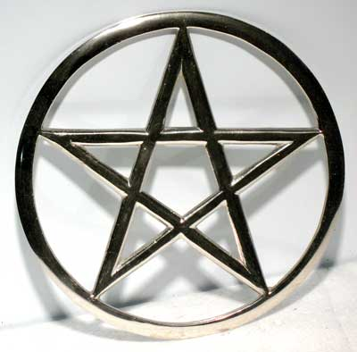 Cut-Out Pentagram altar tile 5 3/4""