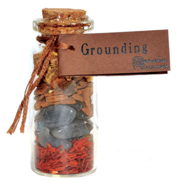Grounding  Pocket Spell Bottle - Tree Of Life Shoppe