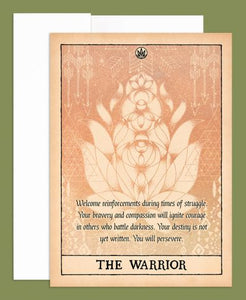 THE WARRIOR GREETING CARD- BLANK INSIDE - Tree Of Life Shoppe