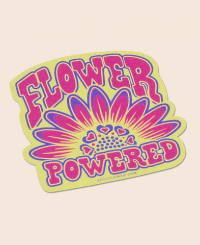 FLOWER POWERED STICKER - Tree Of Life Shoppe