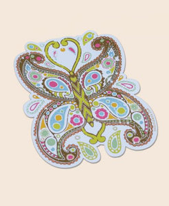 PAISLEY BUTTERFLY STICKER - Tree Of Life Shoppe