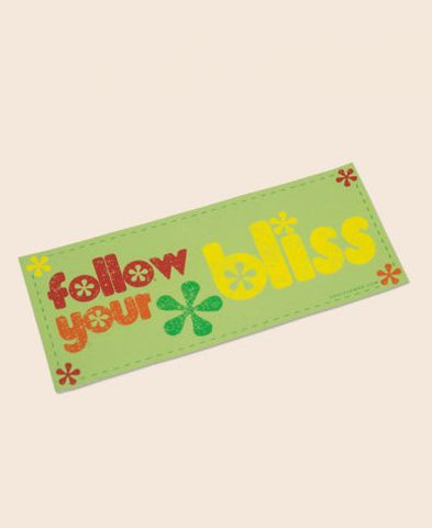 FOLLOW YOUR BLISS MINI BUMPER STICKER